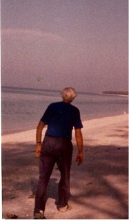 dad walking before on sanibel