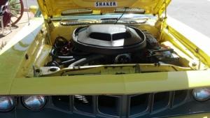yellow with hood open
