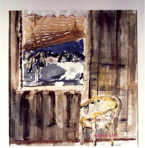 old water color by sue