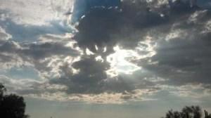 blue desert sky