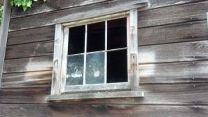 the work shed window