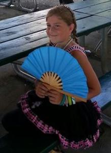 cheyenne with her blue fan copy